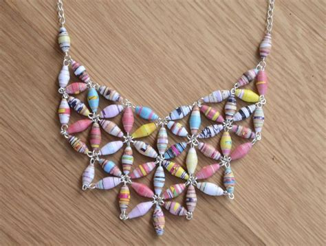 How To Make Paper Necklaces - 17 best images about crafty things on
