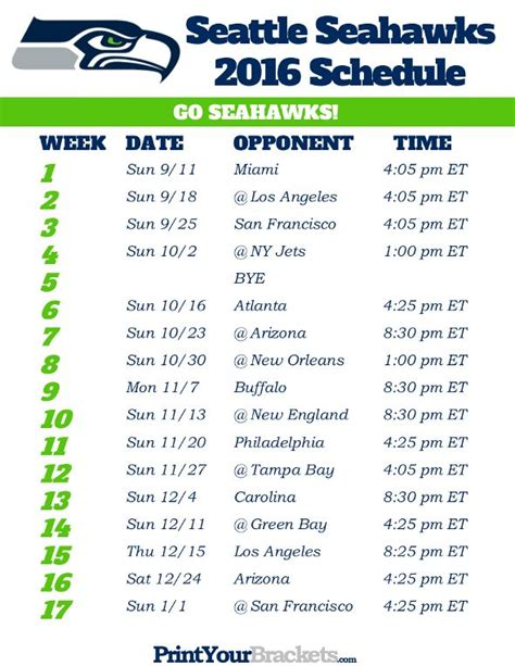 25 best ideas about seahawks schedule on