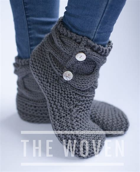 free knit slipper boot pattern slipper socks and boots knitting patterns in the loop