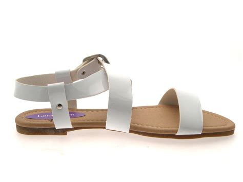 strappy flat shoes womens patent flat strappy sandals summer buckle