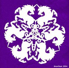 Unicorn Snowflake Pattern | 1000 images about paper snowflake designs on pinterest