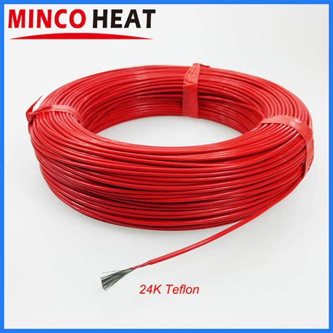 Promo Tokped Cable Teflon New teflon insulated new infrared heating floor heating cable system of 2 5mm ptfe 17 ohm carbon