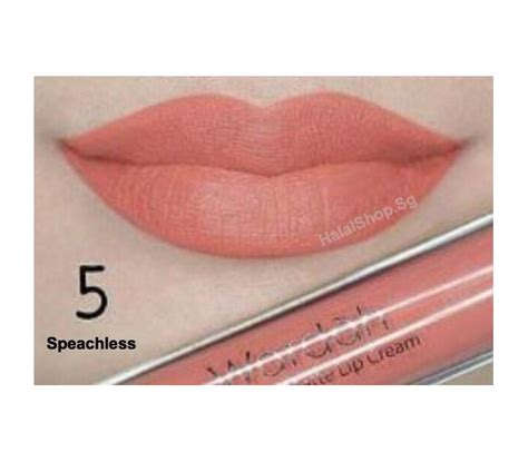 Wardah Lipscream halal cosmetics singapore wardah exclusive matte lip 05 speachless more brands available