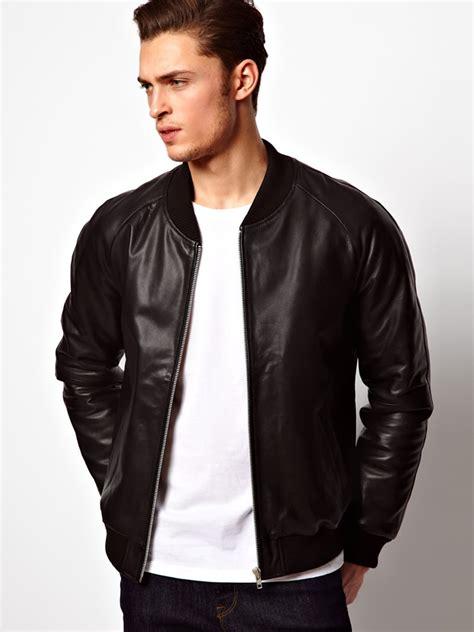 asos leather bomber jacket fashionbeans