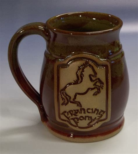 Handmade Ceramic Gifts - prancing pony mug new version lord of the rings hobbit
