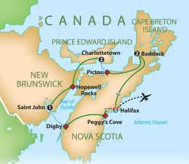 map of maritimes provinces canada mayflower tours scotia and canada s maritimes 2016 17