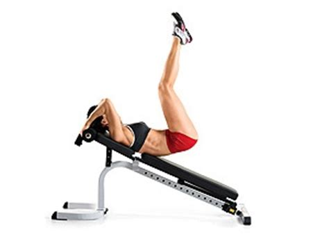 reverse crunch on bench 220 best images about workouts core on pinterest flat