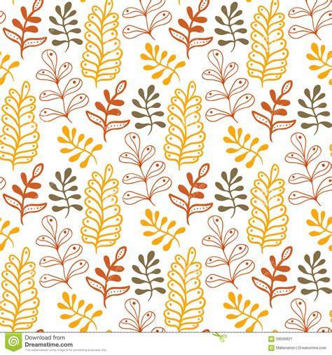 handwriting pattern wallpaper hand drawn leaves background in autumn colors seasonal