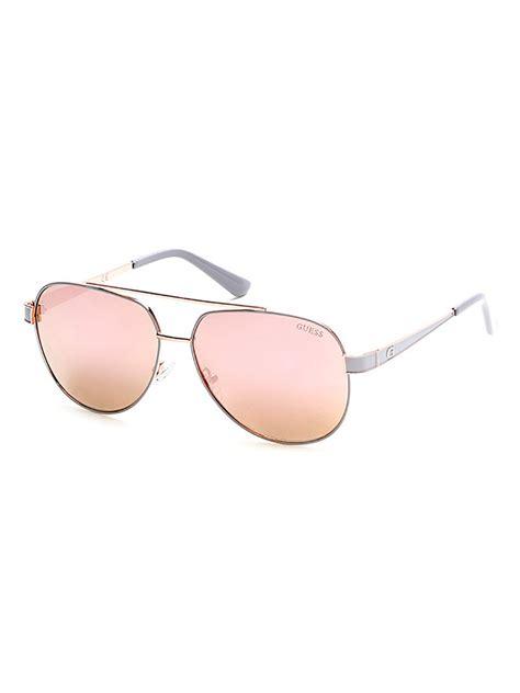 Metal Aviator Sunglasses guess gold metal aviator sunglasses 171 neo gifts