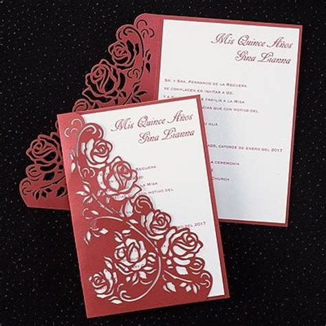 design a quinceanera invitation quinceanera ideas white envelopes and rose patterns on