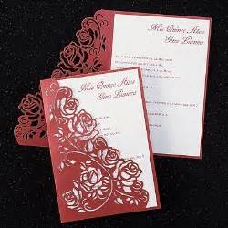 invitations quinceanera invitations and roses on