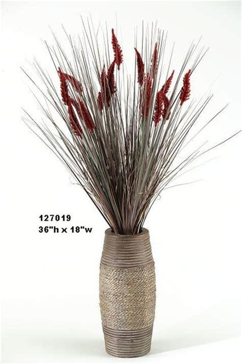 Grass Vase by D W Silks Grass With Dogstail In Vase