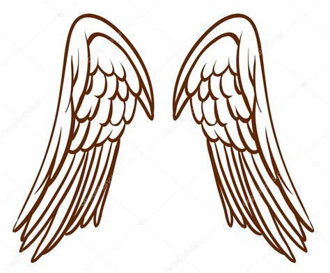 imagenes vectoriales alas un simple boceto de alas de un 225 ngel archivo im 225 genes