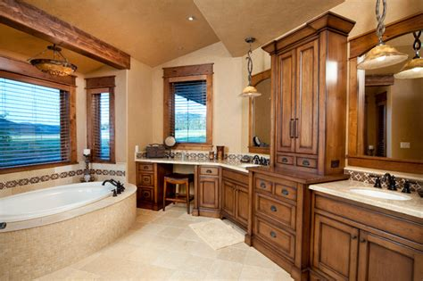 western bathroom designs brasada ranch style homes transitional bathroom
