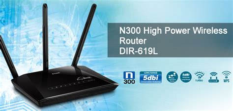 Router Wireless Reapeater N300 Dlink Dir 619l 4 Lan 3 Antena d link dir 619l n300 high power wireless router