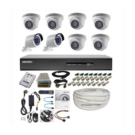 Paket Cctv Hikvision 8 Ch 2mp Turbo Hd 1080p Hdd 1tb jual hikvision thd 7208 8ch paket lengkap b cctv 6in 2out 2mp 1 tb 100 meter harga