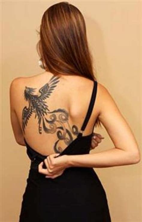1990tattoos phoenix tattoo on back