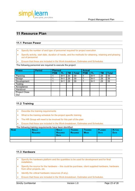 Resource Planning Template 14 Resource Plan Template Resource Plan Template