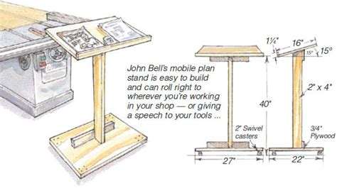 lectern woodworking plans mobile plan stand woodworking plans