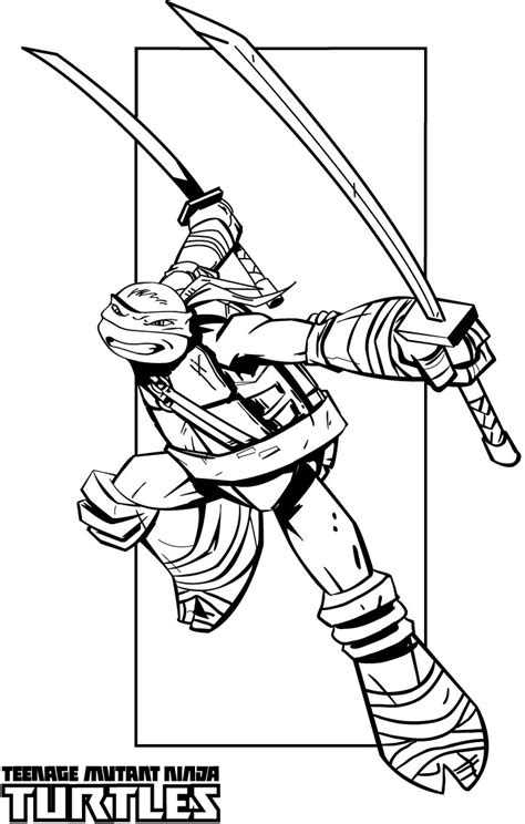Ninja Turtle Cute Face Coloring Pages Mutant Turtles Coloring Pages