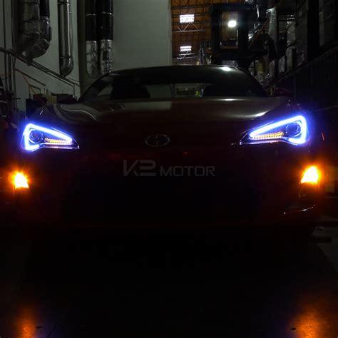 2012 2016 Scion Frs Black Led Projector Headlights