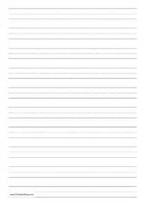printable penmanship paper with ten lines per page on a4