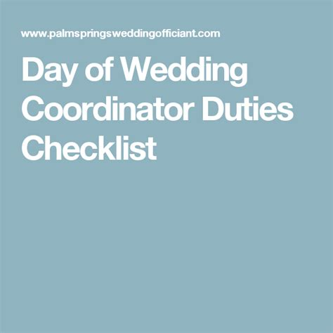 Wedding Coordinator Checklist by Day Of Wedding Coordinator Duties Checklist Wedding