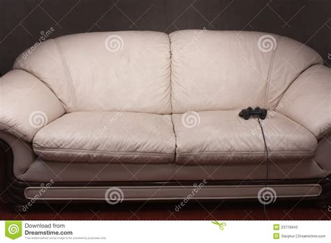 video game couch empty couch with game controller stock photos image