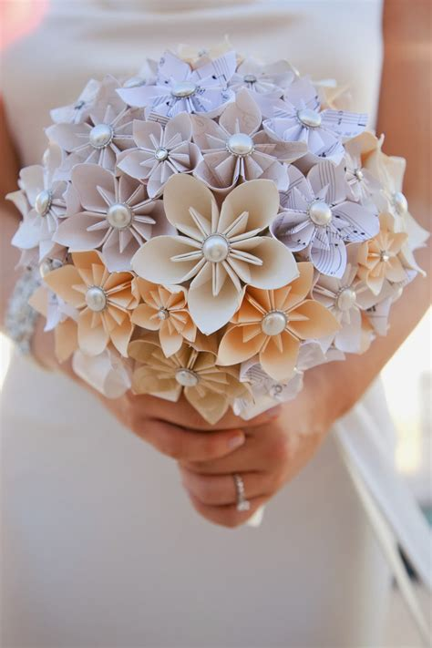 How To Make Paper Flower Bouquet For Wedding - how to make a simple origami flower crafts on