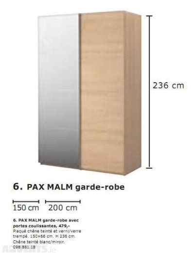 ikea pax malm ikea pax malm sliding door wardrobe for sale in sandyford