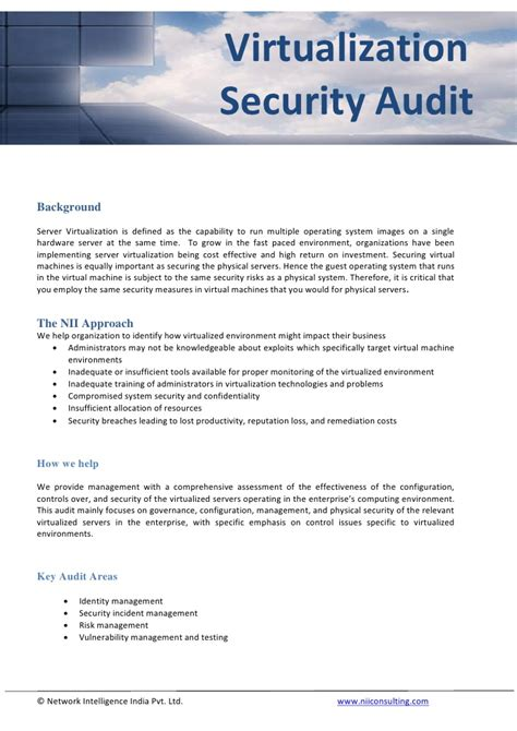 virtualization security audit