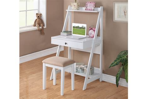 Writing Desk With Stool by Richmond White Writing Desk With Stool