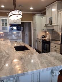Mississauga Kitchen Cabinets polished fantasy brown quartzite kitchen counters and
