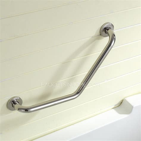bathtub bars safety first tub stainless steel l shaped angled grab bar