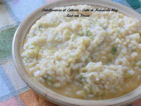 preparazione test lattosio riso e verza latte di mandorla