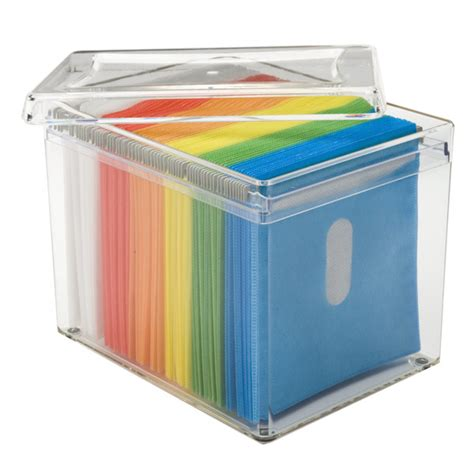 dvd storage container 120 disc rainbow acrylic storage box the container store