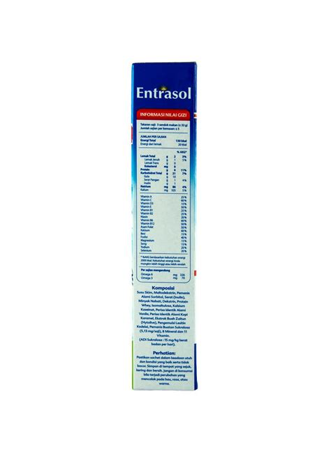 Entrasol Active entrasol active bubuk vanilla latte box 160g klikindomaret