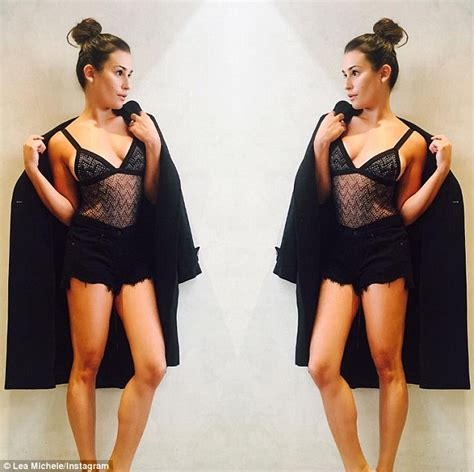 Lea Tops black magic lea michele puts on a display in