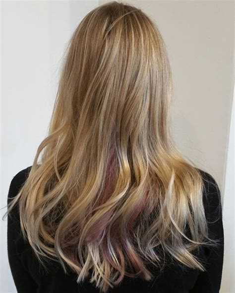 hairstyles and pick a boo color for brunette women over 50 red peek a boo highlights