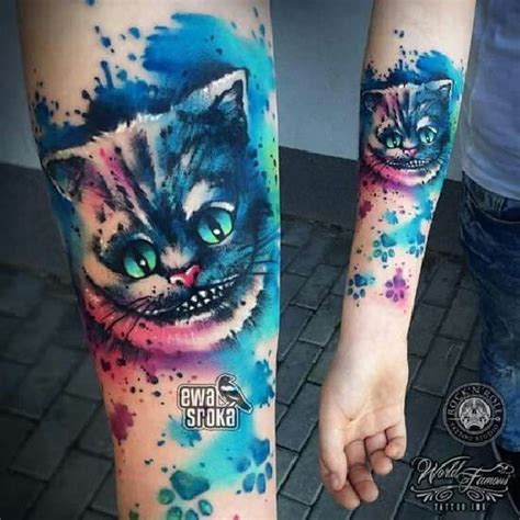 tattoo cat alice wonderland 38 best cheshire cat tattoos images on pinterest cat