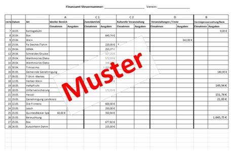 Rechnung Gesetz Schweiz Steuererkl 228 Rung Bei Gemeinn 252 Tzigen Vereinen Excel Vorlage