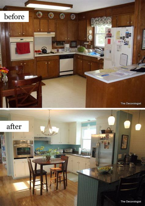 cred dated kitchen becomes bright and open before and pretty before and after kitchen makeovers noted list