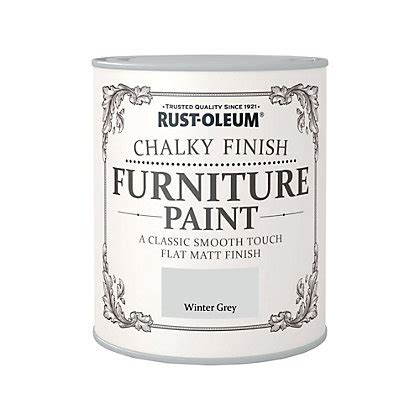 chalk paint uk homebase rust oleum winter grey chalky furniture paint 750ml