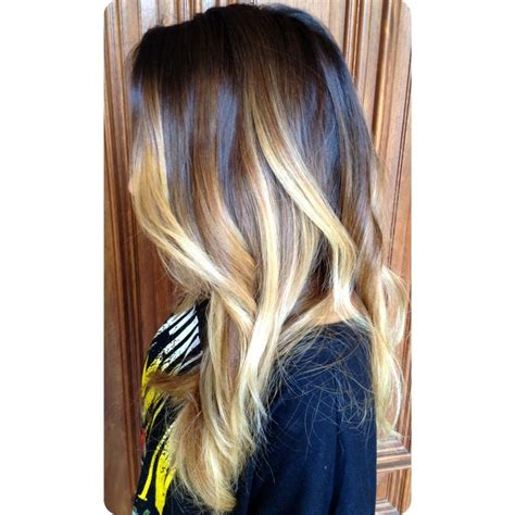brunette to blonde ombre images dramatic brunette to blonde balayage ombre color and curly