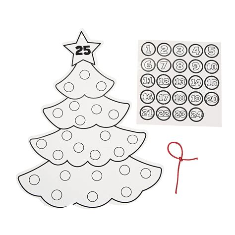 christmas tree advent calendar coloring page color your own advent christmas tree calendars oriental