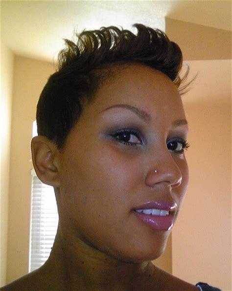 short flip hair style for black women flipped hair short black women haircut thirstyroots com