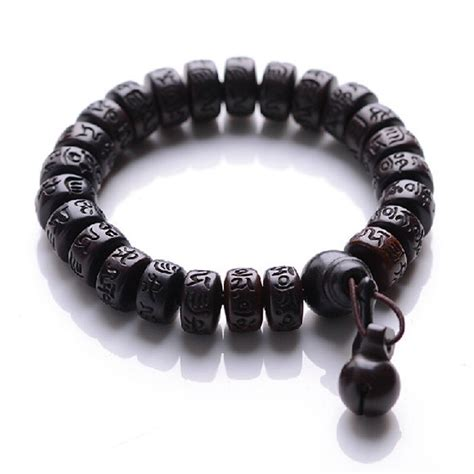 buy ubeauty natural peach wood buddha beads bracelet hand carved tibetan
