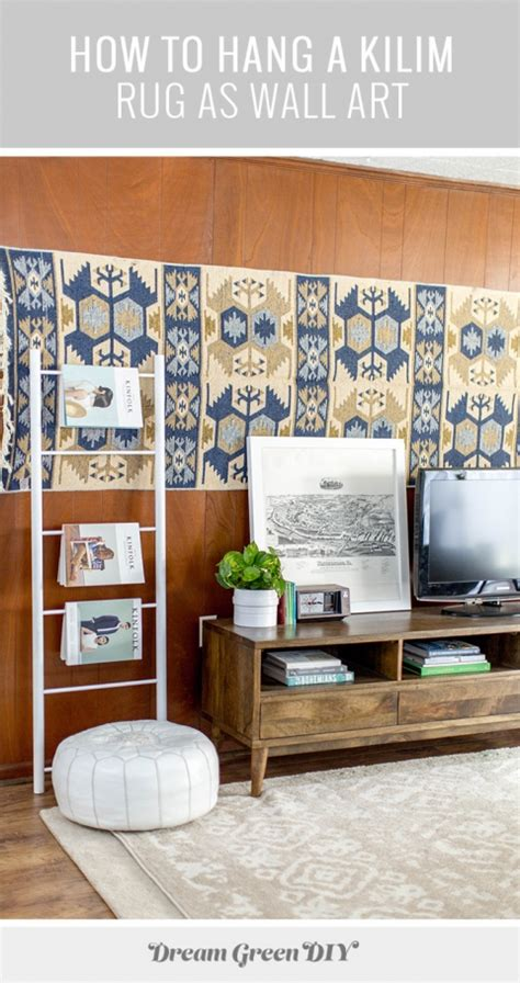 how to hang a rug on a wall how to hang a kilim rug as wall green diy