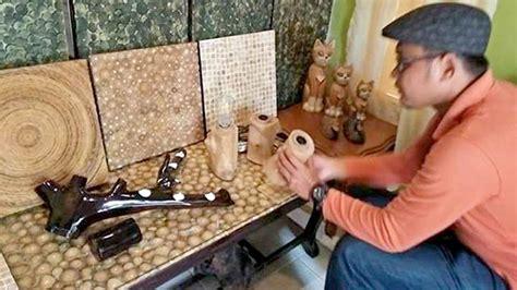 kerajinan membuat rumah dari kayu kerajinan wood panel ranting kayu jati dari desa