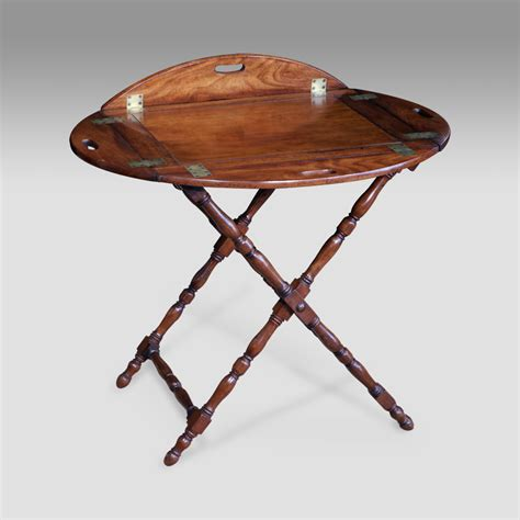 antique butlers tray table antique butlers tray georgian oval butlers tray on stand